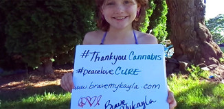 Brave Mykayla is the 9 year-old lymphoblastic leukaemia survivor who used paediatric cannabis therapy